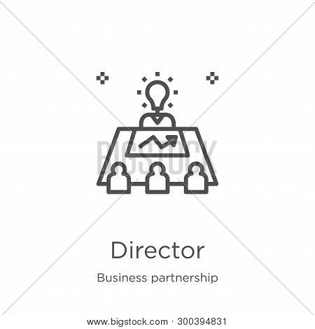 Director Icon Isolated On White Background From Business Partnership Collection. Director Icon Trend