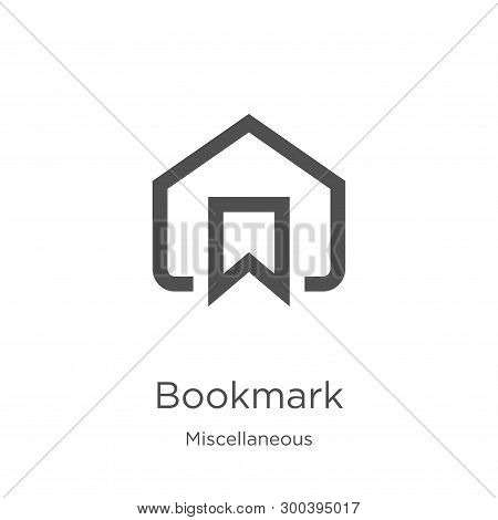 Bookmark Icon Isolated On White Background From Miscellaneous Collection. Bookmark Icon Trendy And M