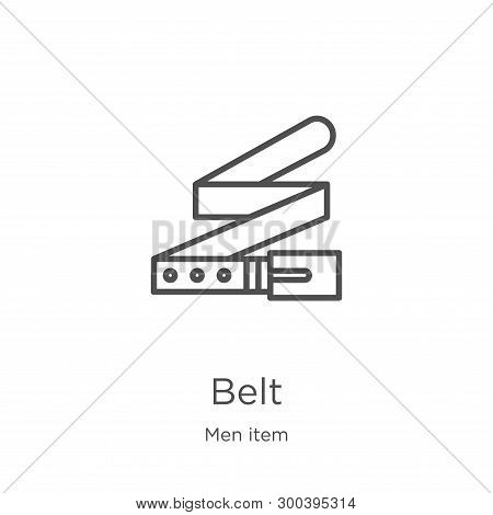 Belt Icon Isolated On White Background From Men Item Collection. Belt Icon Trendy And Modern Belt Sy