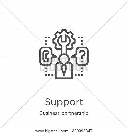 Support Icon Isolated On White Background From Business Partnership Collection. Support Icon Trendy