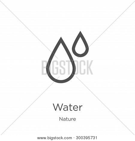 Water Icon Isolated On White Background From Nature Collection. Water Icon Trendy And Modern Water S