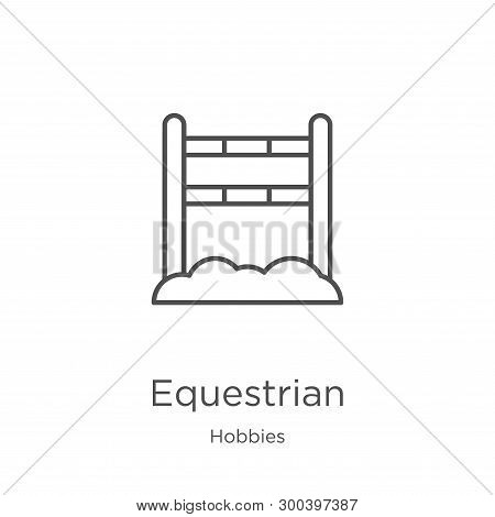 Equestrian Icon Isolated On White Background From Hobbies Collection. Equestrian Icon Trendy And Mod