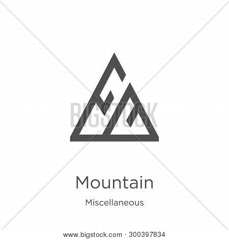 Mountain Icon Isolated On White Background From Miscellaneous Collection. Mountain Icon Trendy And M