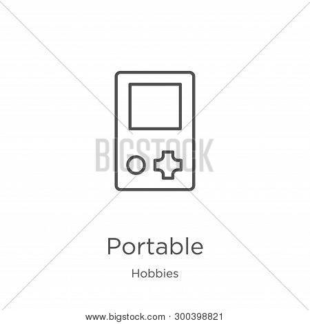 Portable Icon Isolated On White Background From Hobbies Collection. Portable Icon Trendy And Modern