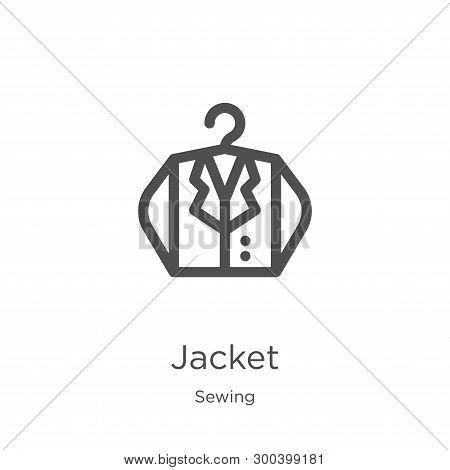 Jacket Icon Isolated On White Background From Sewing Collection. Jacket Icon Trendy And Modern Jacke
