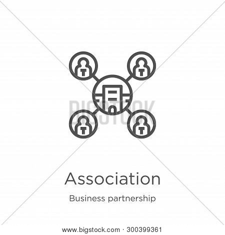Association Icon Isolated On White Background From Business Partnership Collection. Association Icon