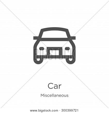 Car Icon Isolated On White Background From Miscellaneous Collection. Car Icon Trendy And Modern Car