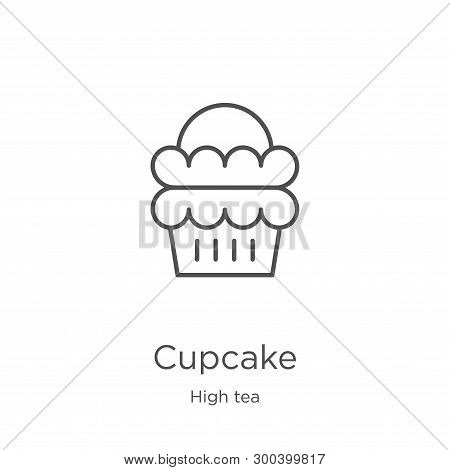 Cupcake Icon Isolated On White Background From High Tea Collection. Cupcake Icon Trendy And Modern C