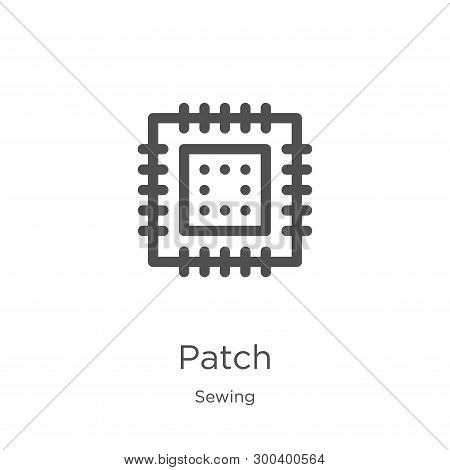 Patch Icon Isolated On White Background From Sewing Collection. Patch Icon Trendy And Modern Patch S