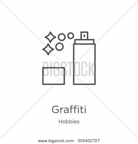 Graffiti Icon Isolated On White Background From Hobbies Collection. Graffiti Icon Trendy And Modern
