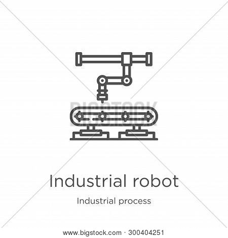 Industrial Robot Icon Isolated On White Background From Industrial Process Collection. Industrial Ro