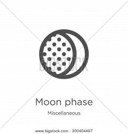 Moon Phase Icon Isolated On White Background From Miscellaneous Collection. Moon Phase Icon Trendy A