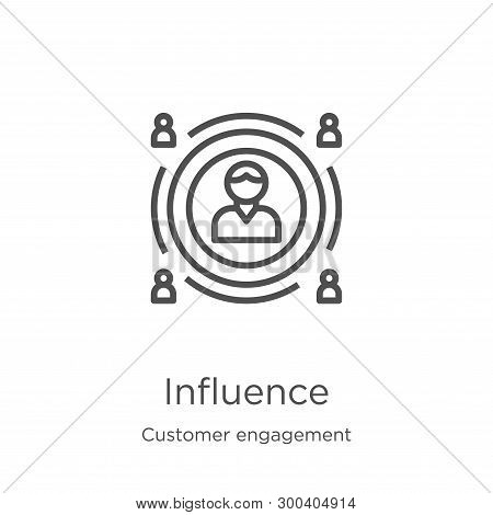 Influence Icon Isolated On White Background From Customer Engagement Collection. Influence Icon Tren