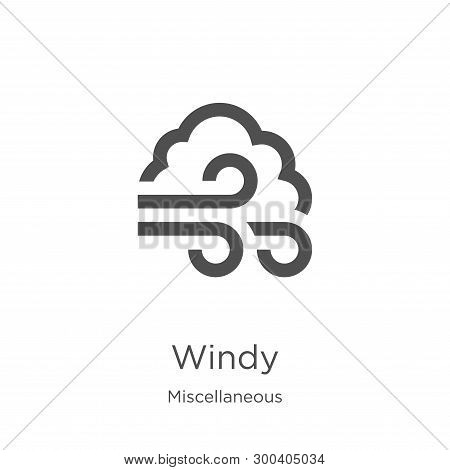 Windy Icon Isolated On White Background From Miscellaneous Collection. Windy Icon Trendy And Modern