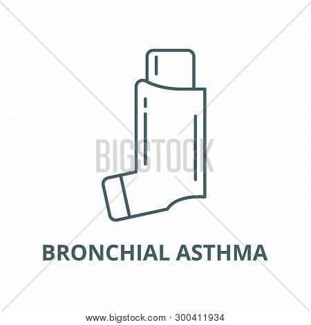 Bronchial Asthma Vector Line Icon, Linear Concept, Outline Sign, Symbol