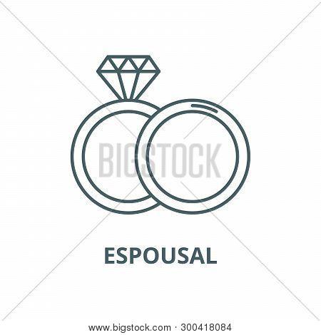 Espousal Vector Line Icon, Linear Concept, Outline Sign, Symbol