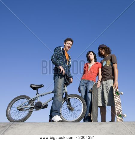 Teens At Skatepark