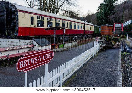 Betws-y-coed, Uk - Feb 2, 2019: The Conway Valley Railway Shop & Museum In Betws-y-coed, North Wales