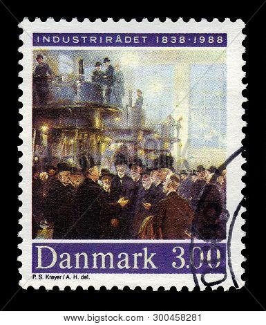 Denmark - Circa 1988: Stamp Printed By Denmark, Shows