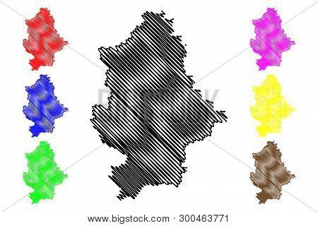 Donetsk Oblast (administrative Divisions Of Ukraine, Oblasts Of Ukraine) Map Vector Illustration, Sc