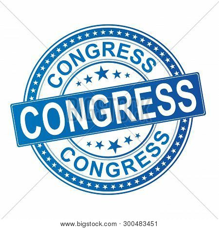 Congress Grunge Rubber Stamp Vector Illustration Isolated