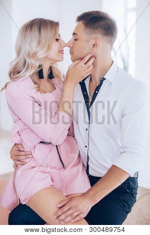 Beautiful Young Couple In Love. Stock Photo