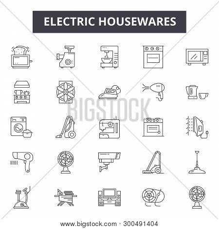 Electric Housewares Line Icons, Signs, Vector Set, Linear Concept, Outline Illustration