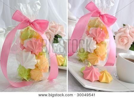 """Mini Cakes """"meringue"""" Of Different Colors"""