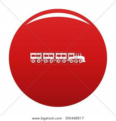 Compartment Train Icon. Simple Illustration Of Compartment Train Vector Icon For Any Design Red
