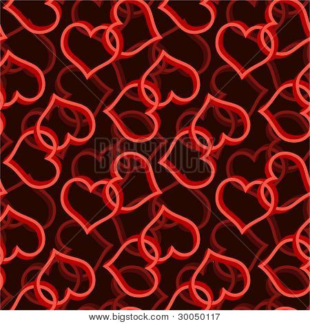 two heart seamless background pattern