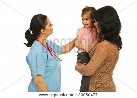 Family At Doctor