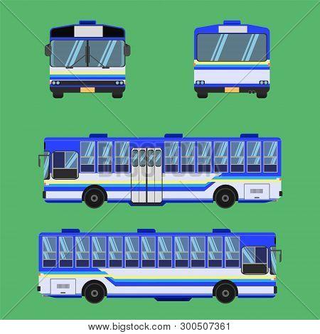 Thai Bus Blue Sky Yellow White Transport Car Vehicle Driver Fare Passenger Autobus Omnibus Coach Rai