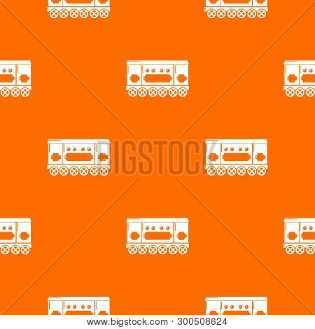 Compartment Carriage Pattern Vector Orange For Any Web Design Best