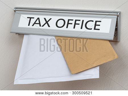 A Letterbox With The Label Tax Office