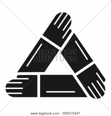 Hand people cohesion icon. Simple illustration of hand people cohesion vector icon for web design isolated on white background poster