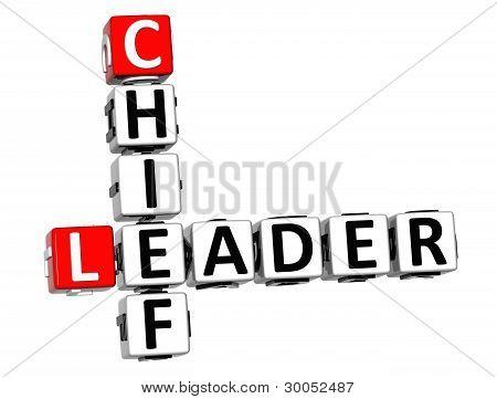 3D Leader Chief Crossword