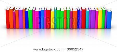 Row Of Colourful Books