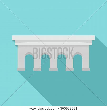 Beton Bridge Icon. Flat Illustration Of Beton Bridge Icon For Web Design