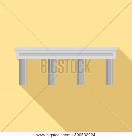 Autobahn Bridge Icon. Flat Illustration Of Autobahn Bridge Icon For Web Design