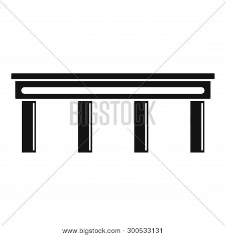 Autobahn Bridge Icon. Simple Illustration Of Autobahn Bridge Icon For Web Design Isolated On White B