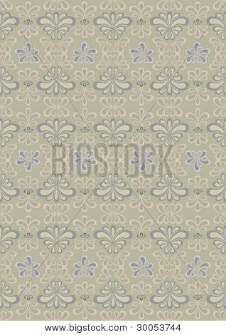 Oriental pattern of curved parts on the pastel beige background.Wallpaper.