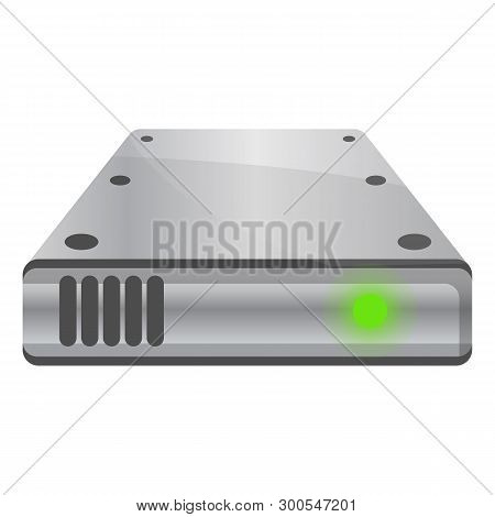 External Hard Disk Icon. Cartoon Of External Hard Disk Icon For Web Design Isolated On White Backgro