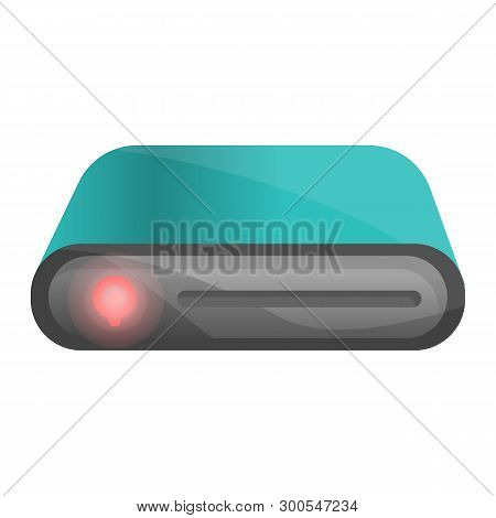 Portable Hard Disk Icon. Cartoon Of Portable Hard Disk Icon For Web Design Isolated On White Backgro