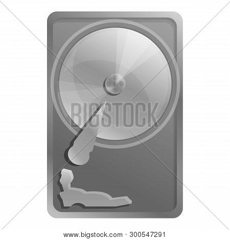 Old Hard Disk Icon. Cartoon Of Old Hard Disk Icon For Web Design Isolated On White Background