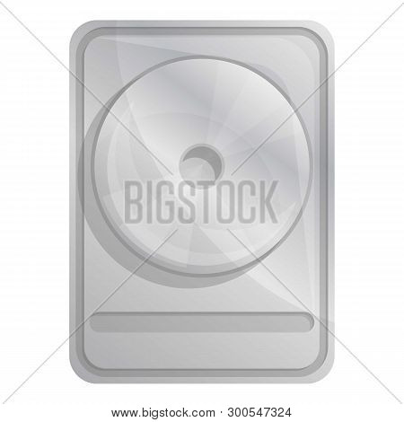 Modern Hard Disk Icon. Cartoon Of Modern Hard Disk Icon For Web Design Isolated On White Background