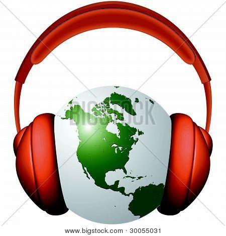 Headphones And Earth