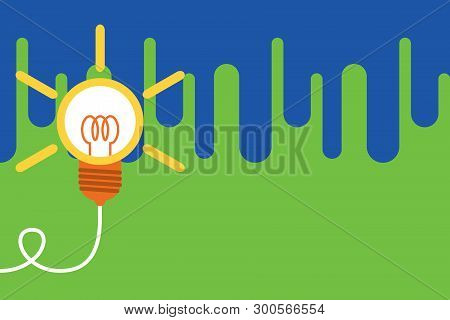 Big Idea Light Bulb. Successful Lamp Idea. Emerging Innovation. Turning Idea Invention. Photo Art. S