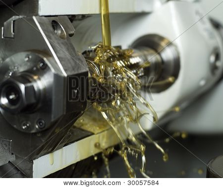Oil In Machine