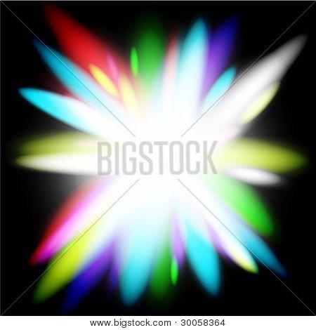 Rainbow vector flower