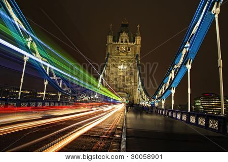 Tower Bridge Light Trails, London